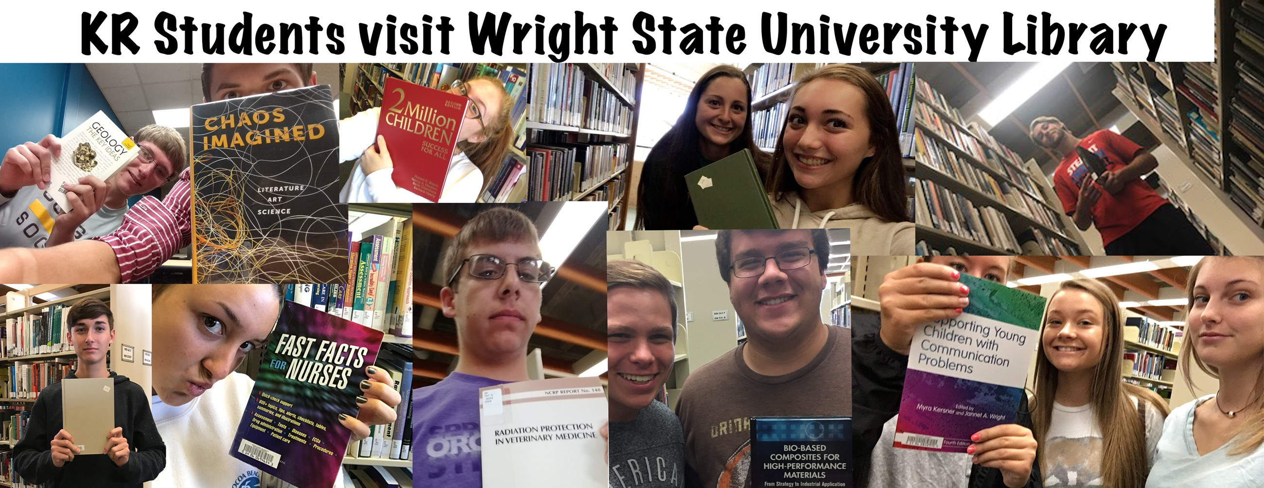 students at WSU library