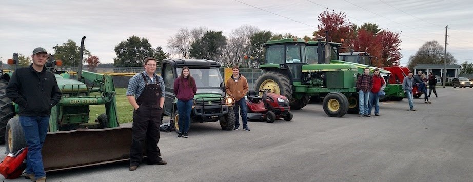 Drive your tractor to school at Northeastern HS.
