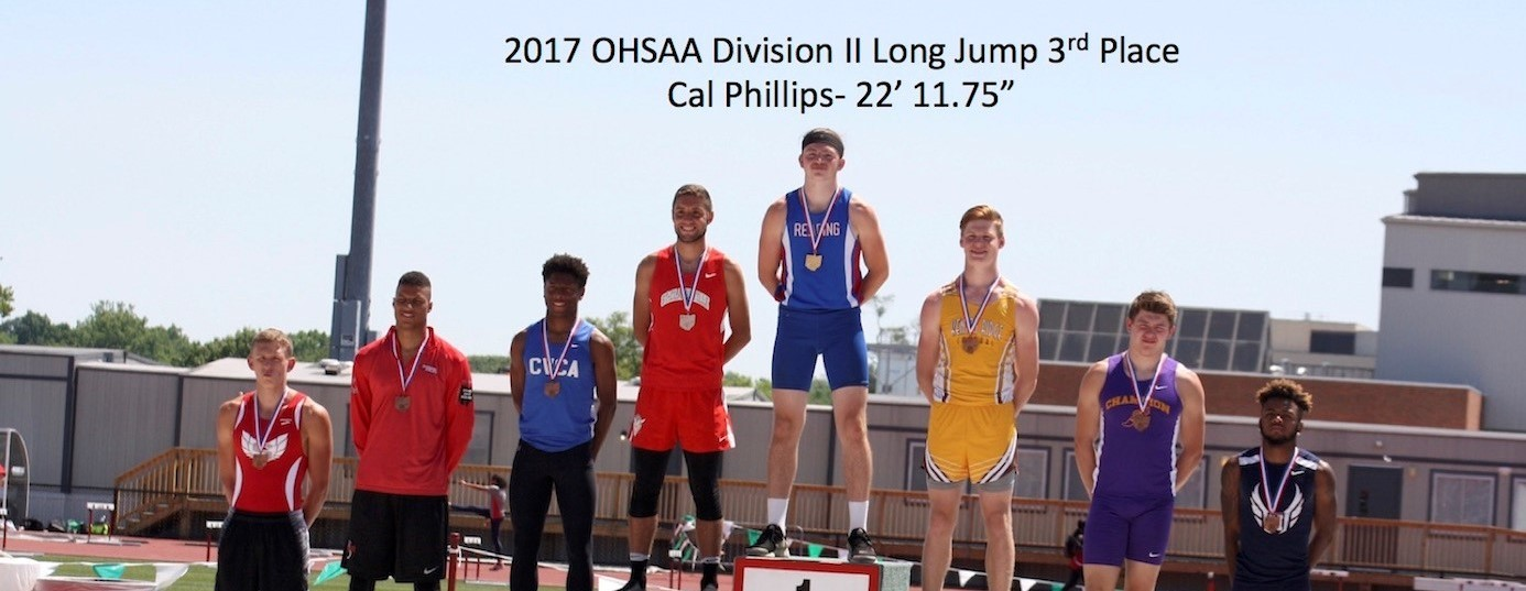 2017 OHSAA Boys Long Jump Cal Phillips 3rd Place