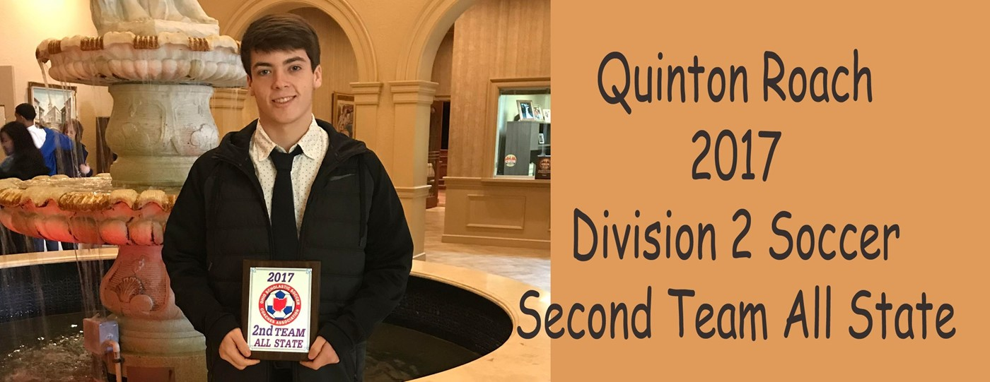 Quinton D-2 Soccer second team All State