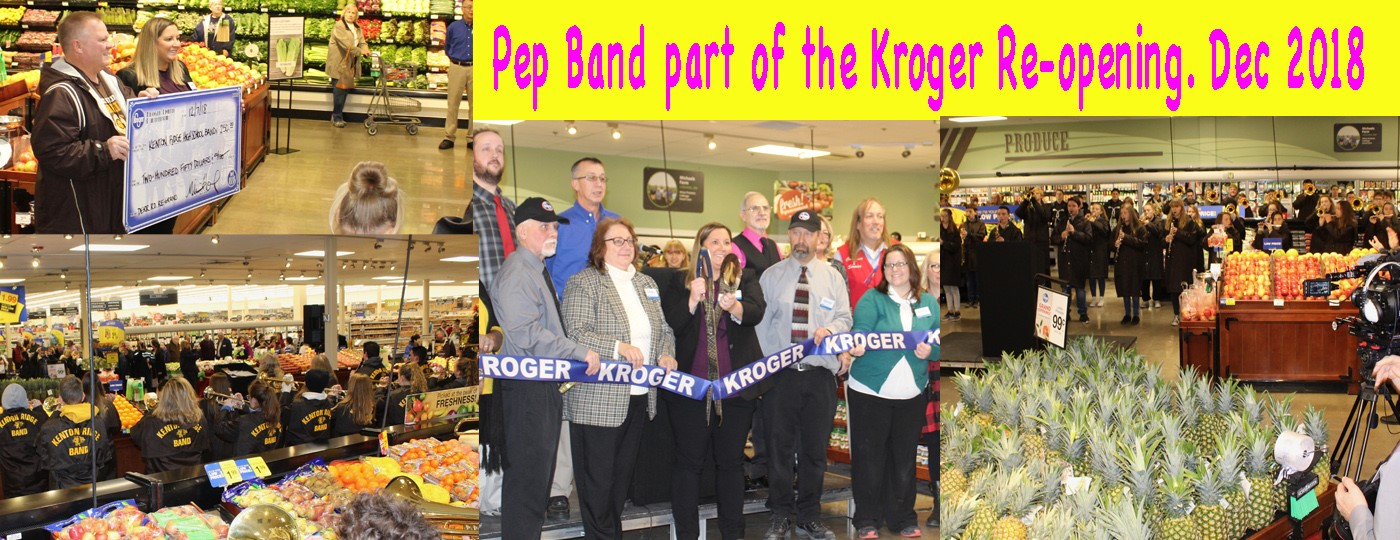 Pep band part of the kroger re-opening. Dec 2018