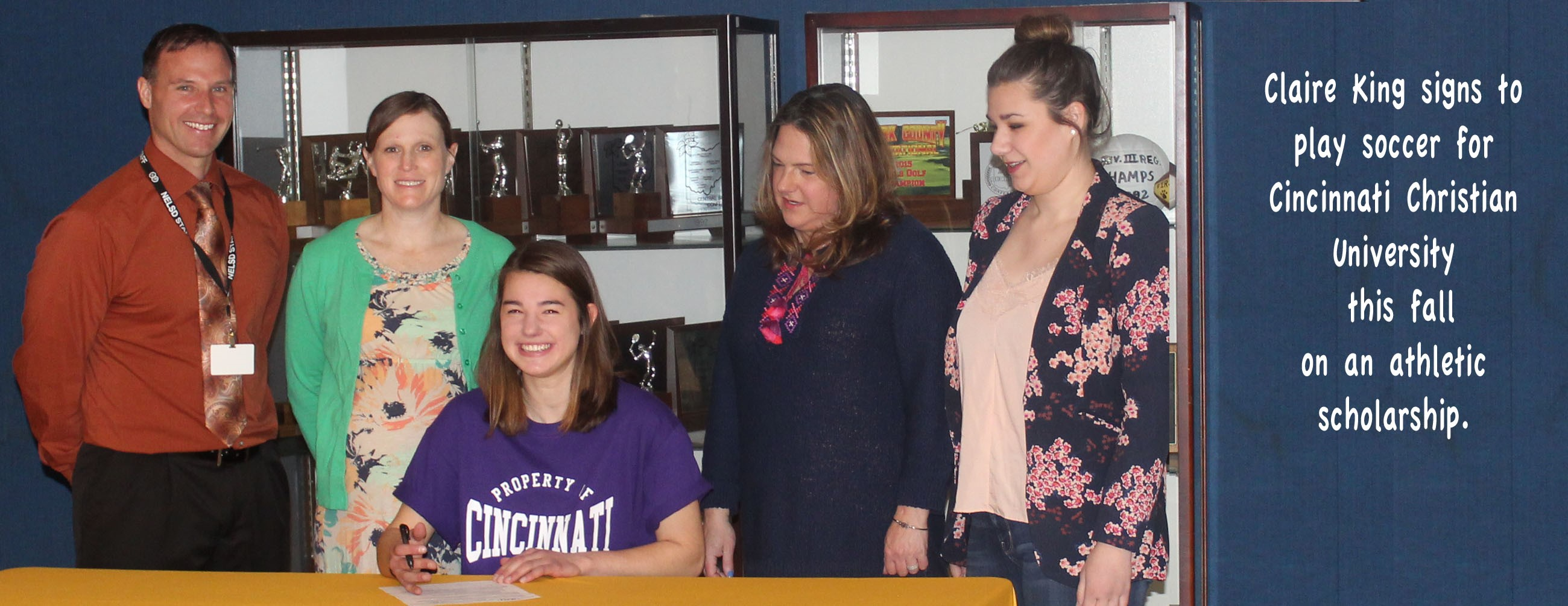 Claire King signs with CCU to play soccer