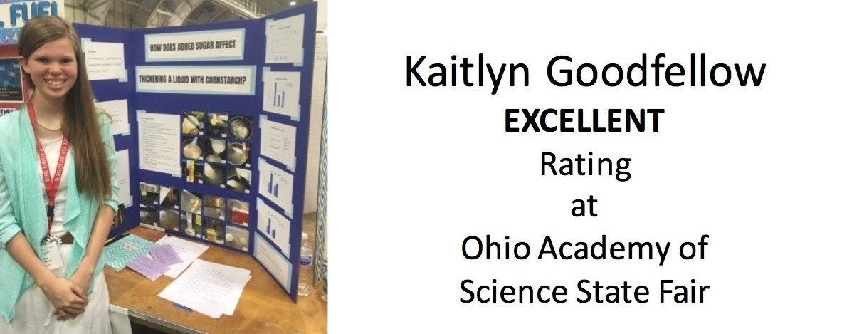 Excellent Rating at Ohio Academy of Science State Fair
