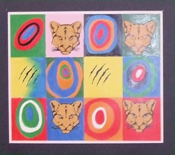 squares with cougar images