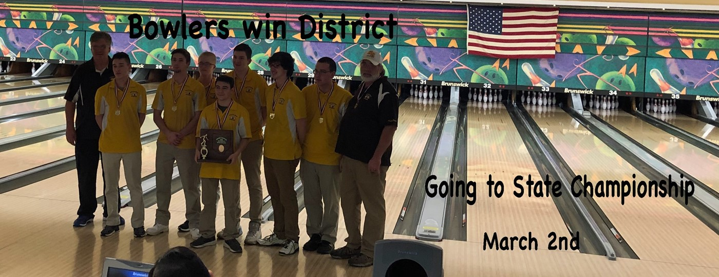 Bowling team wins district