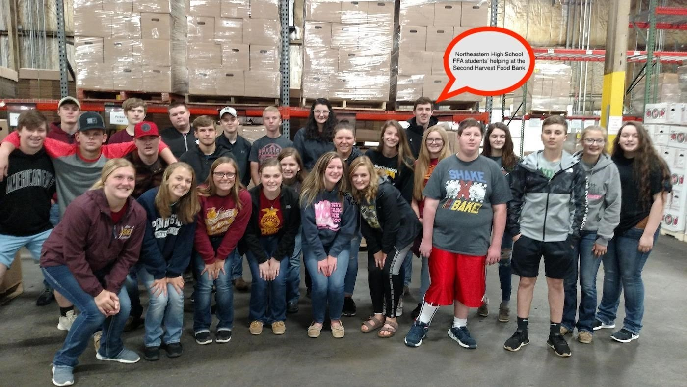 Northeastern High School Students' helping at the Second Harvest Food Bank