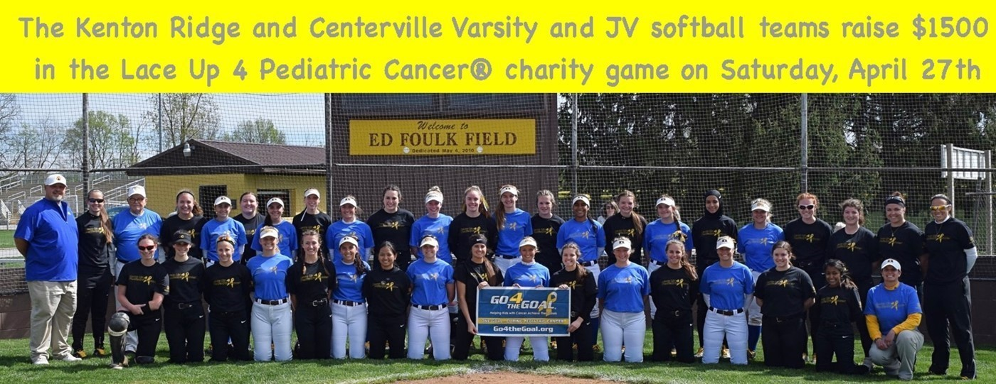 Kenton Ridge Softball Raises $1500 for Pediatric Cancer
