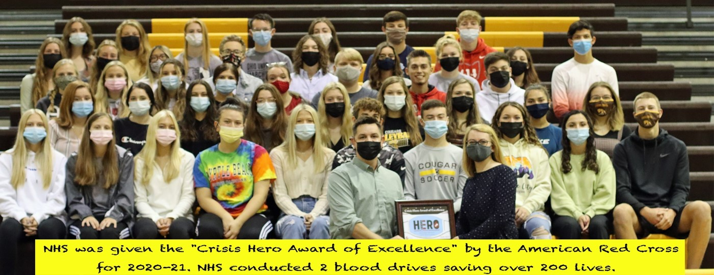 National Honor Society wins Red Cross Blood Drive award