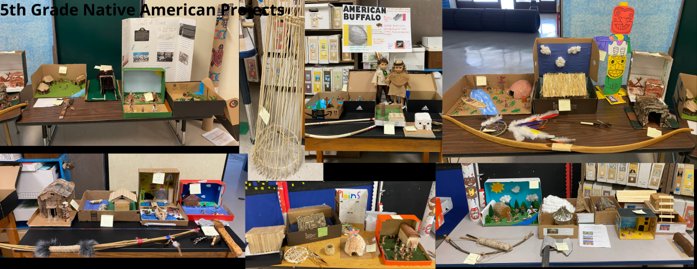 5ht Grade Native American Projects