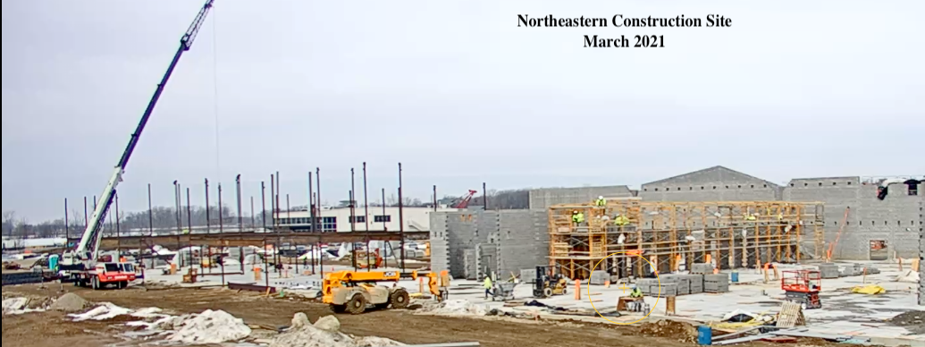 Construction Site - Northeastern SIte March 2021