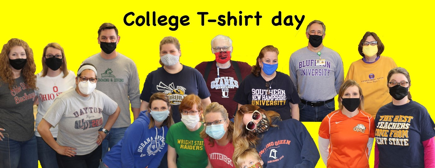 College tee shirt day