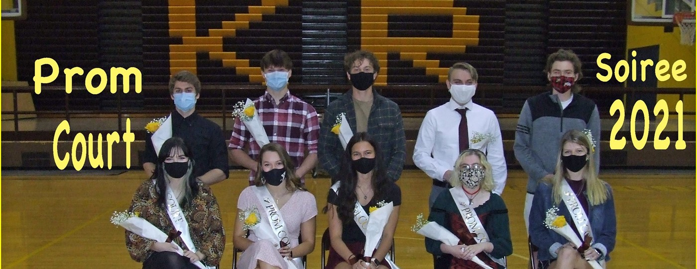 Prom court for the 2021 soiree
