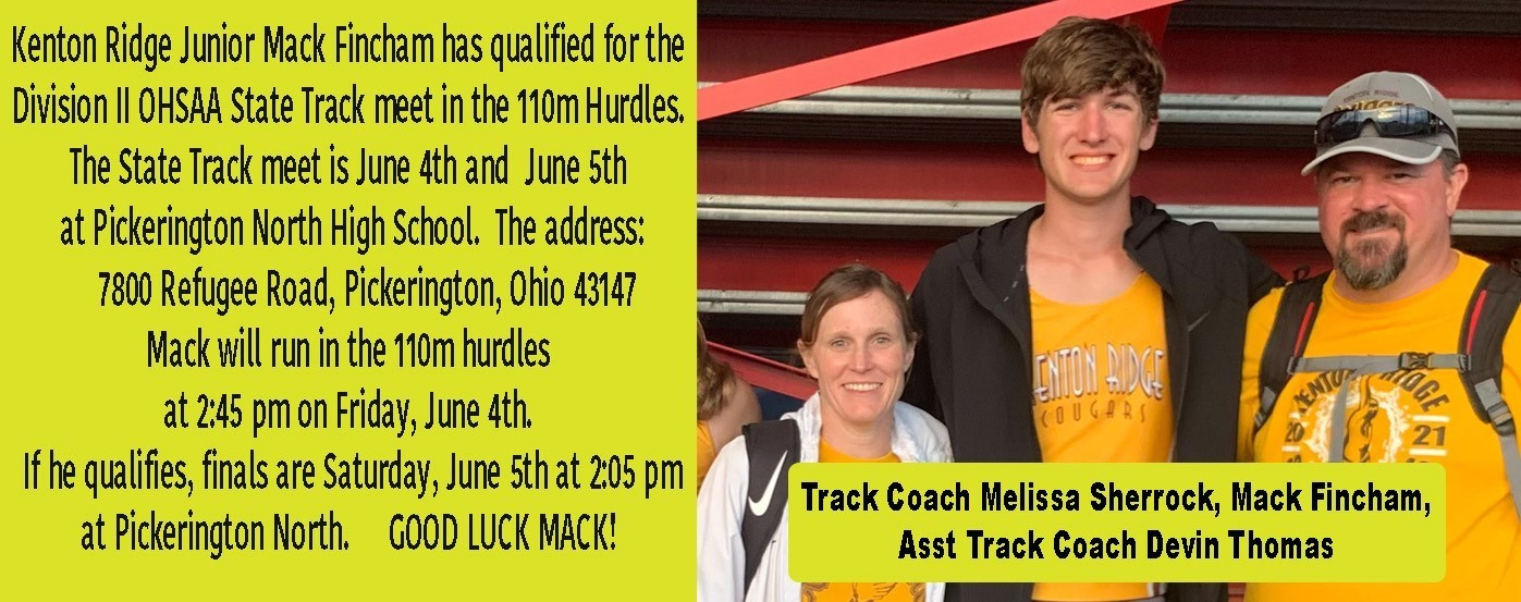 Mack Fincham in the 2021 State Track Meet June 4th